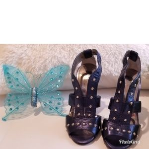 Marc Fisher Navy Blue Stud High Heels Size 5